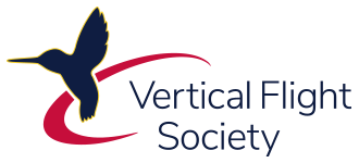 Vertical Flight Society Logo, stacked small PNG