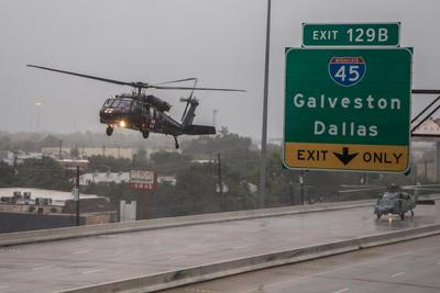 Galveston Black Hawk landing