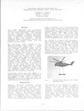 Helicopter Simulation Development By Correlation With Frequency