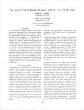 Appraisal Of Digital Terrain Elevation Data For LowAltitude - Terrain elevation data