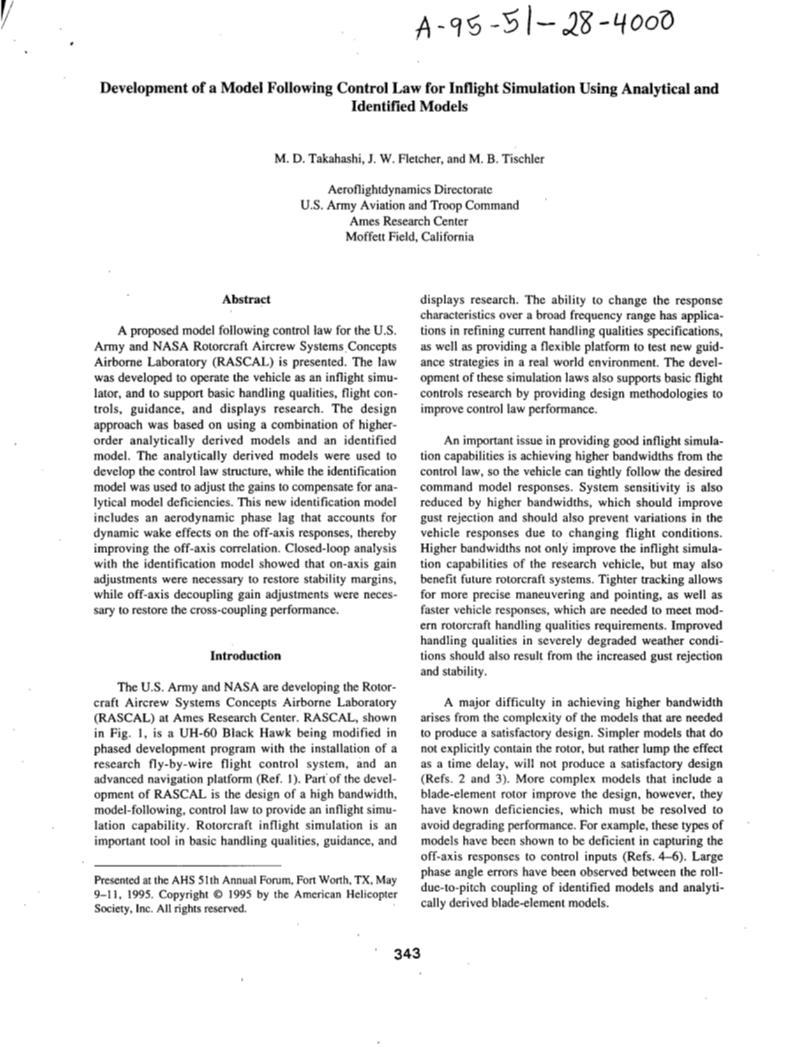 Vtol research paper