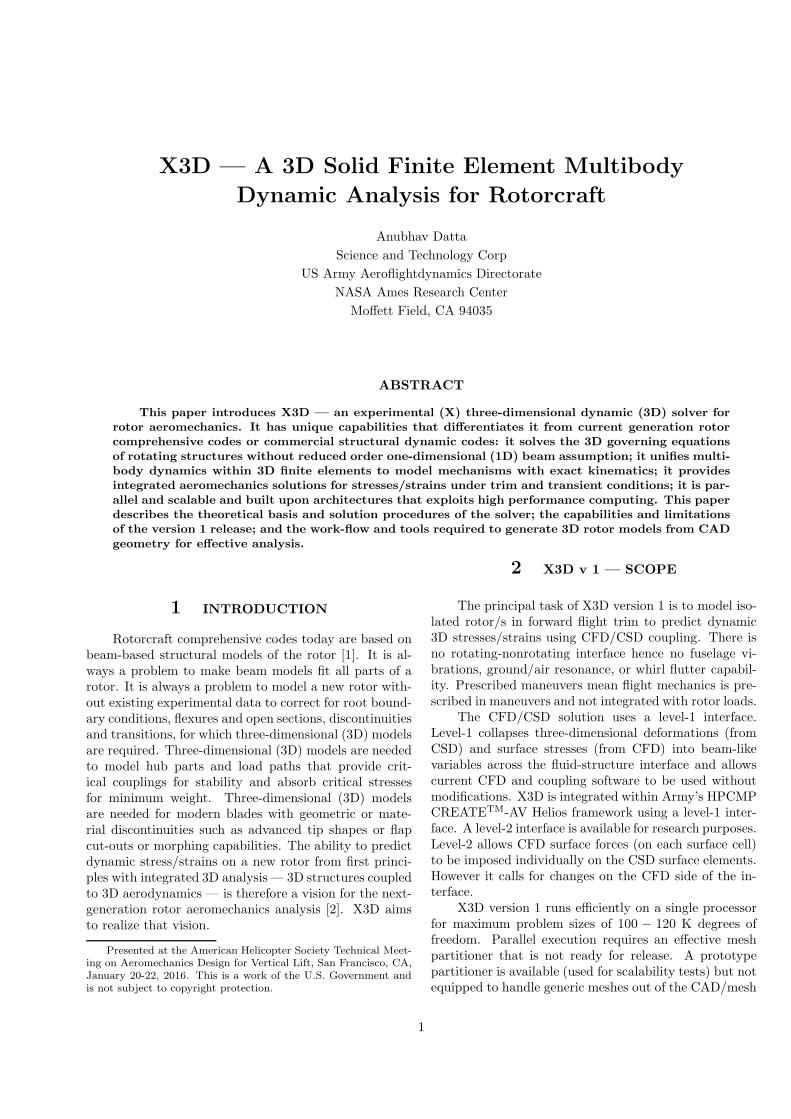 X3D — A 3-D Solid Finite Element Multibody Dynamic Analysis