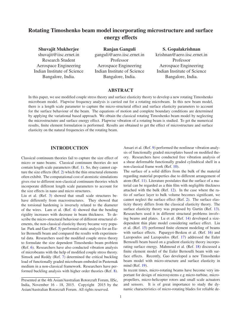 Rotating Timoshenko Beam Model Incorporating Microstructure