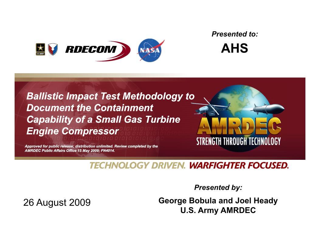 Ballistic Impact Test Methodology to Document the