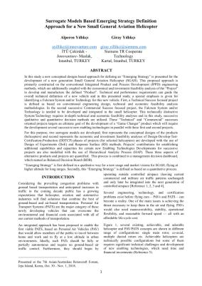 Surrogate Models Based Emerging Strategy Definition Approach for a